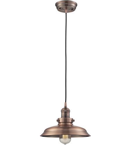 Elk 550311 newberry 1 light 11 inch antique copper pendant ceiling elk 550311 newberry 1 light 11 inch antique copper pendant ceiling light aloadofball Image collections