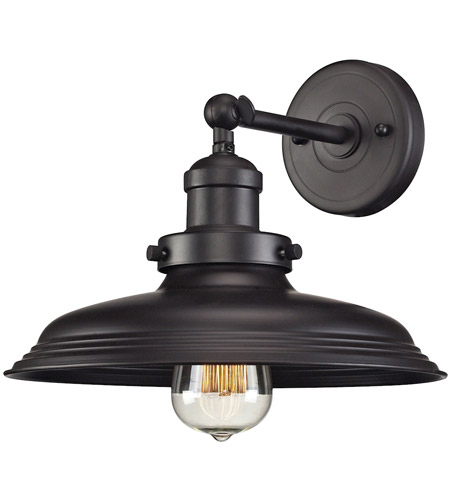 Elk Lighting Wall Sconce: ELK 55040/1 Newberry 1 Light 11 Inch Oil Rubbed Bronze