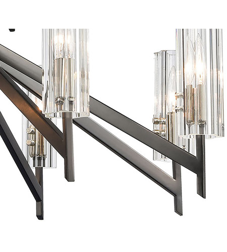 ELK 55077/8+4 Aspire 12 Light 30 inch Black Nickel with Polished Nickel Chandelier Ceiling Light alternative photo thumbnail