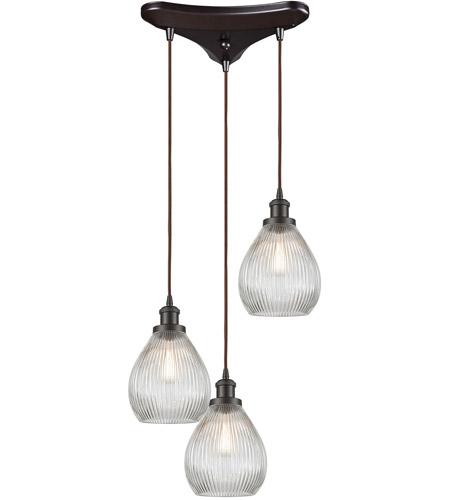 Elk 56582 3 jackson 3 light 10 inch oil rubbed bronze pendant ceiling light