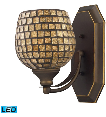 ELK Lighting Vanity 1 Light Bath Bar in Aged Bronze 570-1B-GLD-LED photo