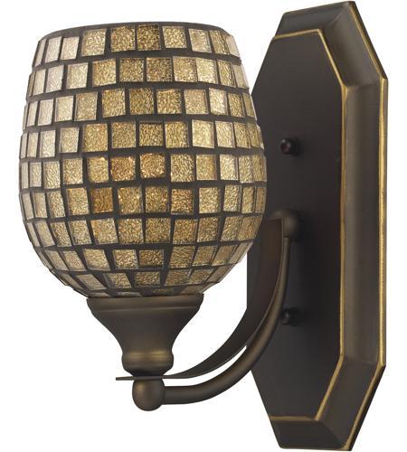 ELK 570-1B-GLD Vanity 1 Light 5 inch Aged Bronze Bath Bar Wall Light ...