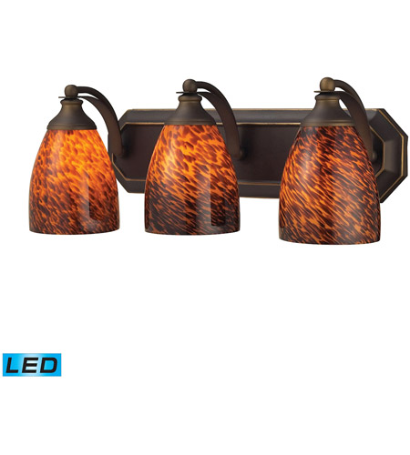 ELK 570-3B-ES-LED Mix and Match LED 20 inch Aged Bronze Vanity Light Wall Light in Espresso, 3 photo