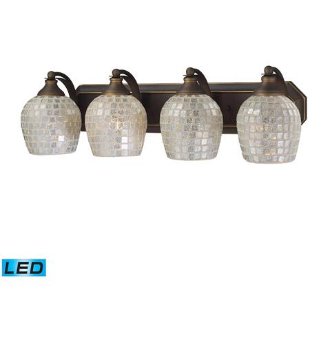 ELK Lighting Vanity 4 Light Bath Bar in Aged Bronze 570-4B-SLV-LED photo
