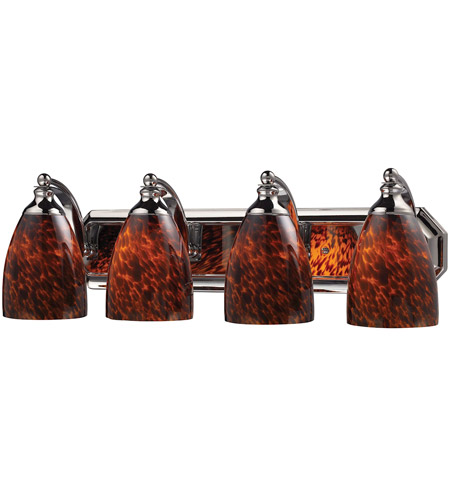 ELK 570-4C-ES Bath and Spa 4 Light 27 inch Polished Chrome Vanity Light Wall Light in Espresso, Incandescent photo