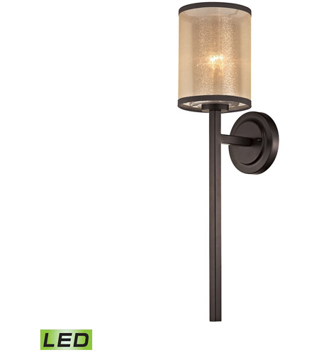 ELK 57023 1 LED Diffusion 6 Inch Oil Rubbed Bronze Wall Sconce Light