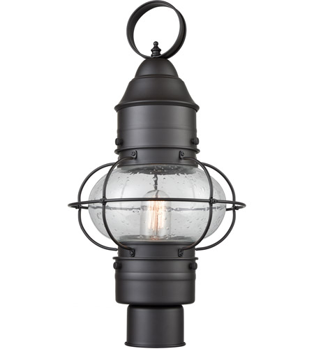 Oil Rubbed Bronze Glass Post Lights