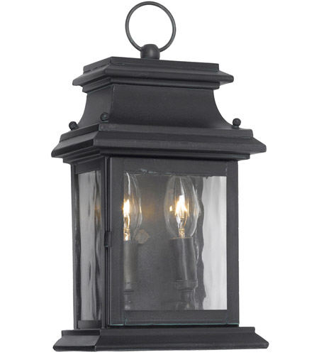 Provincial 2 Light 14 Inch Charcoal Outdoor Sconce