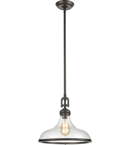 Elk 57361 1 Rutherford 15 Inch Oil Rubbed Bronze Pendant Ceiling Light