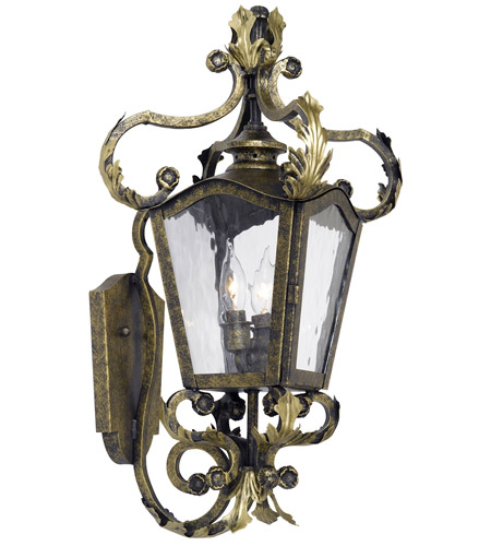 Acadiana 2 Light 24 Inch Castle Bronze Outdoor Sconce