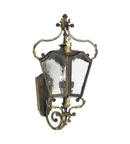Elk Lighting French Quarter 3 Light Outdoor Sconce In Castle Bronze 5781 Cb