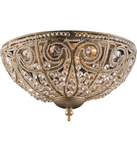 ELK 5962/3 Elizabethan 3 Light 13 inch Dark Bronze Flush Mount Ceiling Light photo