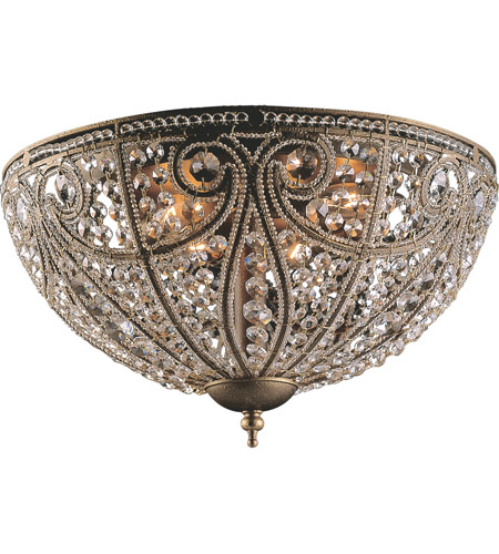 ELK 5963/6 Elizabethan 6 Light 17 inch Dark Bronze Flush Mount Ceiling Light photo