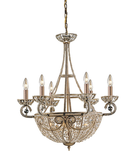ELK 5967/6+4 Elizabethan 10 Light 26 inch Dark Bronze Chandelier Ceiling Light photo