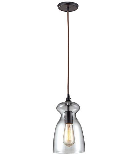 elk menlow park 1 light 6 inch oiled bronze pendant ceiling light photo
