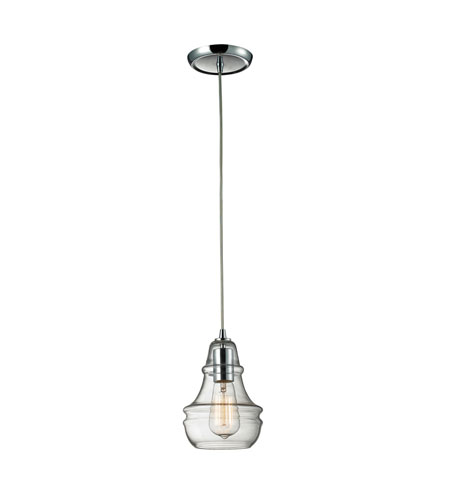 ELK Lighting Menlow Park 1 Light Pendant in Polished