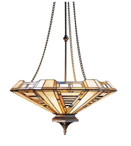 Elk lighting american art 3 light pendant in classic for American classic lighting