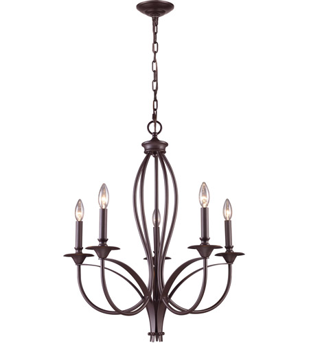 ELK Oiled Bronze Chandeliers