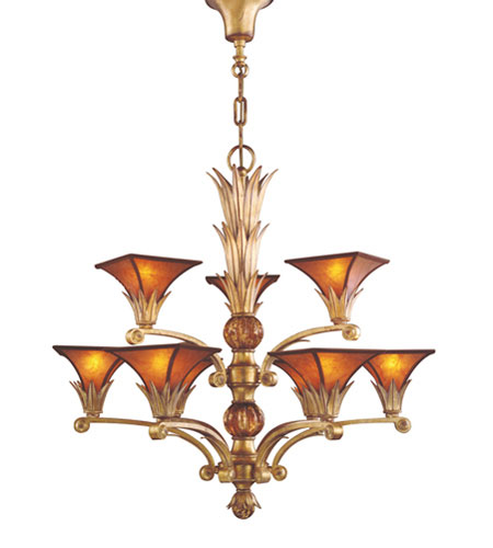 ELK Lighting Valenciana 9 Light Chandelier in Solid Brass Gold Leaf 6166/6+3 photo