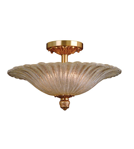 ELK 6181/6 CONQUISTADOR 6 Light 22 inch French Gold Semi-Flush Mount Ceiling Light photo