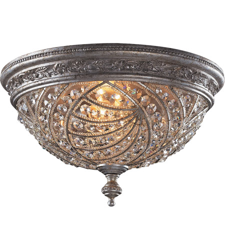 ELK 6232/4 Renaissance 4 Light 16 inch Sunset Silver Flush Mount Ceiling Light photo