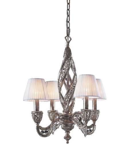 ELK Lighting Renaissance 4 Light Chandelier in Sunset Silver 6235/4 photo