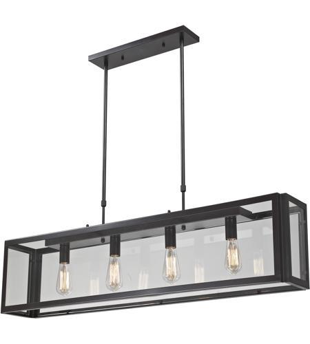 elk parameters 4 light 47 inch bronze pendant ceiling light photo