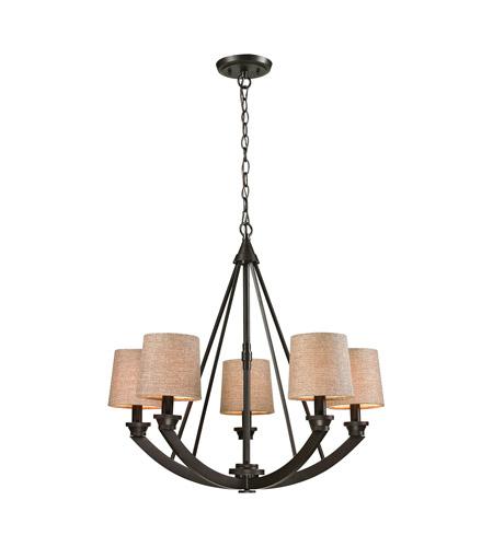 elk morrison 5 light 26 inch oil rubbed bronze chandelier ceiling light