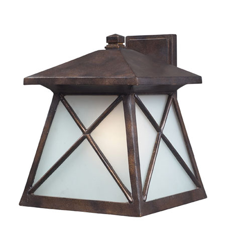 ELK Lighting Spencer 1 Light Outdoor Sconce in Hazelnut Bronze 64004-1 photo