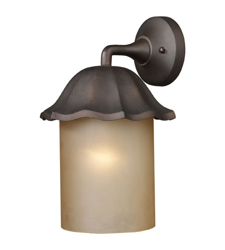 ELK Lighting Monteflor 1 Light Outdoor Sconce in Clay Bronze 64008-1 photo