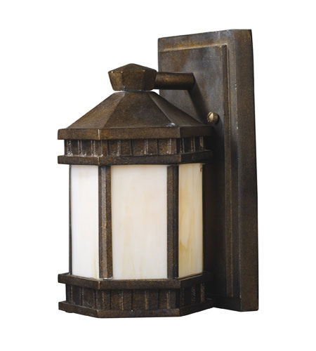 ELK Lighting Mission Abbey 1 Light Outdoor Sconce in Hazelnut Bronze 64020-1 photo