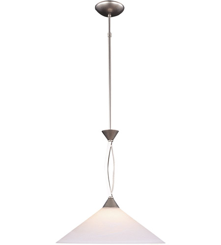 ELK Lighting Elysburg 1 Light Pendant in Satin Nickel 6500/1 photo