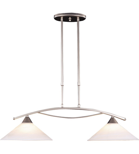 ELK 6501/2 Elysburg 2 Light 31 inch Satin Nickel Island Light Ceiling Light in Standard photo