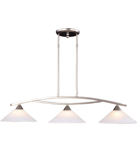 ELK 6502/3 Elysburg 3 Light 43 inch Satin Nickel Island Light Ceiling Light in Standard photo