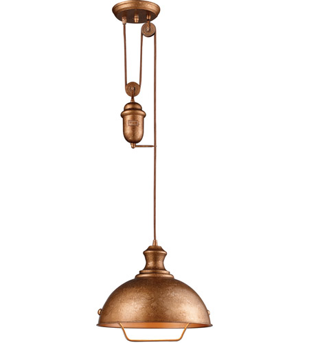 ELK 65061-1 Farmhouse 1 Light 14 inch Bellwether Copper Pendant Ceiling Light in Incandescent photo