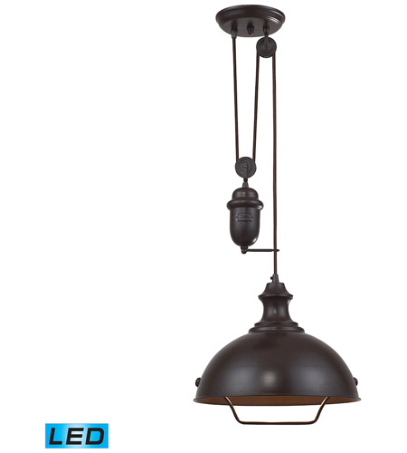 Elk 65071 1 led farmhouse led 14 inch oiled bronze pendant ceiling elk 65071 1 led farmhouse led 14 inch oiled bronze pendant ceiling light aloadofball Gallery
