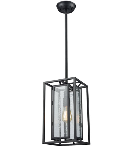 ELK 65261/1 Eastgate 1 Light 8 inch Textured Black Mini Pendant Ceiling Light photo thumbnail