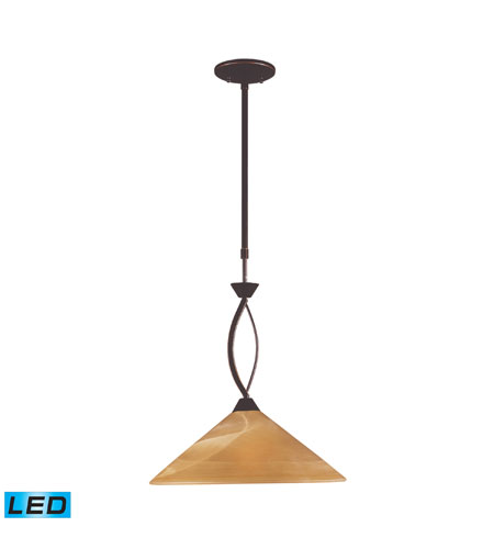 ELK Lighting Elysburg 1 Light Pendant in Aged Bronze 6550/1-LED photo