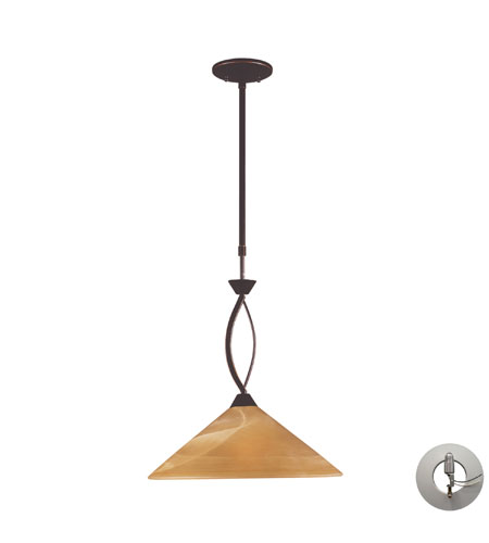 elk lighting elysburg 1 light pendant in aged bronze with. Black Bedroom Furniture Sets. Home Design Ideas