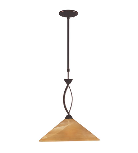 ELK Lighting Elysburg 1 Light Pendant in Aged Bronze 6550/1 photo