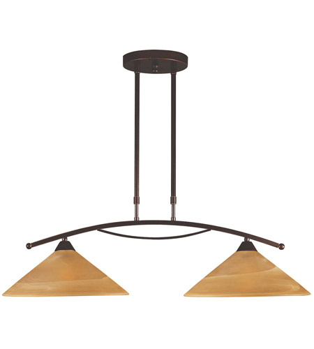 ELK 6551/2 Elysburg 2 Light 31 inch Aged Bronze Island Light Ceiling Light in Incandescent photo