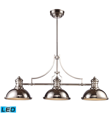 ELK 66115-3-LED Chadwick LED 47 inch Polished Nickel Billiard Light Ceiling Light photo