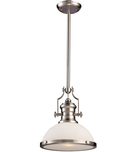 ELK 66123-1 Chadwick 1 Light 13 inch Satin Nickel Pendant Ceiling Light in Incandescent photo