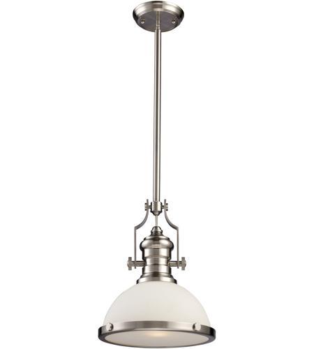 elk 66123 1 chadwick 1 light 13 inch satin nickel pendant