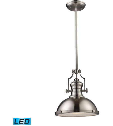ELK 66124-1-LED Chadwick LED 13 inch Satin Nickel Pendant Ceiling Light photo
