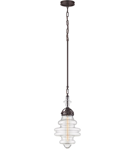 ELK 66127/1 Gramercy 1 Light 10 inch Oil Rubbed Bronze Mini Pendant Ceiling Light photo thumbnail
