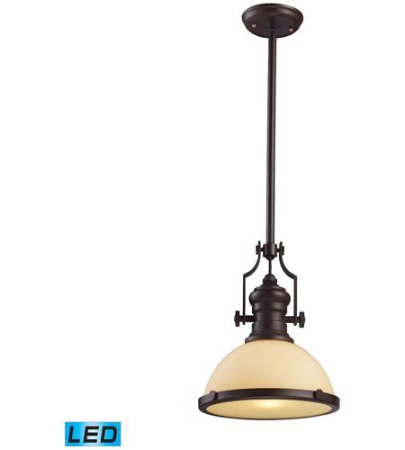 elk 661331led chadwick led 13 inch oiled bronze pendant ceiling light