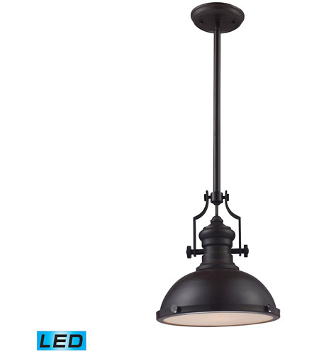 ELK 66134-1-LED Chadwick LED 13 inch Oiled Bronze Pendant Ceiling Light photo