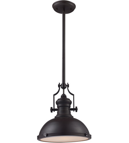ELK 66134-1 Chadwick 1 Light 13 inch Oiled Bronze Pendant Ceiling Light in Incandescent  sc 1 st  ELK Lighting & ELK 66134-1 Chadwick 1 Light 13 inch Oiled Bronze Pendant Ceiling ...
