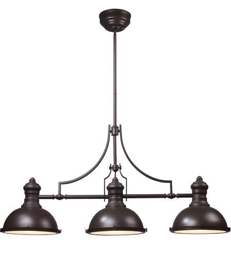 Elk 66135 3 chadwick 3 light 47 inch oiled bronze billiard for Suspension filaire